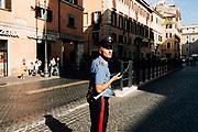 Un carabiniere presenzia Palazzo Madama, durante la discussione generale per la fiducia al Governo Conte bis. Roma 10 Settembre 2019. Christian Mantuano / OneShot