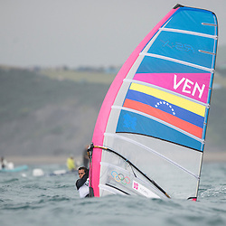 2012 Olympic Games London / Weymouth<br /> RSX man racing day 1 <br /> RS:X MenVENFlores Daniel