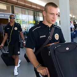 20100802: SLO, Football - Arrival of Portugal C.D. Nacional da Madeira to Slovenia to practice