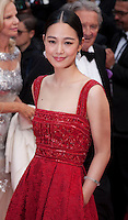Actress Zhou Yun at the Closing ceremony and premiere of La Glace Et Le Ciel at the 68th Cannes Film Festival, Sunday 24th May 2015, Cannes, France.