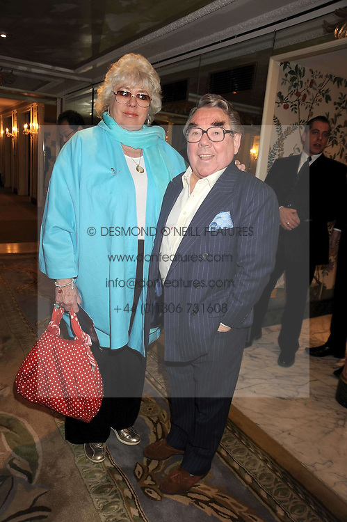 RONNIE CORBETT and his wife ANNE at the 2009 South Bank Show Awards held at The Dorchester, Park Lane, London on 20th January 2009.