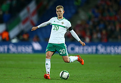 November 12, 2017 - Basel, Switzerland - George Saville of Northern Ireland  during the FIFA 2018 World Cup Qualifier Play-Off: Second Leg between Switzerland and Northern Ireland at St. Jakob-Park on November 12, 2017 in Basel, Basel-Stadt. (Credit Image: © Matteo Ciambelli/NurPhoto via ZUMA Press)