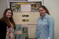 """Siofra Quigley and Alice O Neill  at the """"undergrad"""" Science Fair in NUIG. Photo:Andrew Downes"""