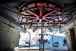 Robert Jenko, Lift Operator and Lift Maintenance at Krvavec SKI Resort, on December 21, 2016 in Krvavec, Slovenia. Photo by Vid Ponikvar / Sportida