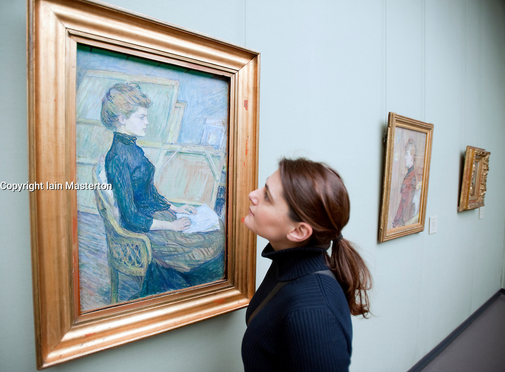 Painting Junges Madchen im Atelier by Henri Toulouse-Lautrec at Kunsthalle art gallery in Hamburg German