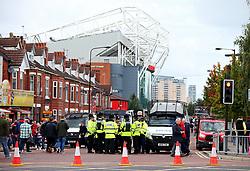 A heavy police presence outside of Old Trafford - Mandatory by-line: Matt McNulty/JMP - 17/09/2017 - FOOTBALL - Old Trafford - Manchester, England - Manchester United v Everton - Premier League