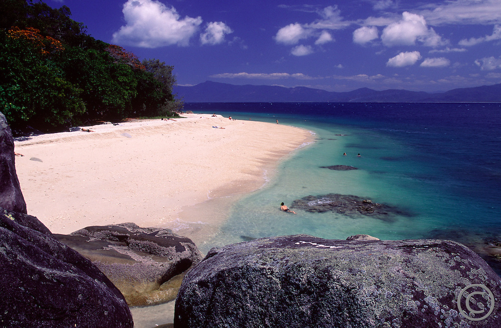 Nudey Beach on Fitzroy Island is one of the most popular swimming spots in far north Queensland.