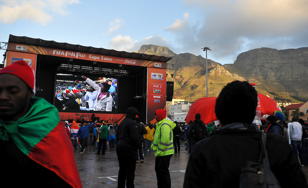 Monday, June 14, 2010 at the FIFA FanFest in Cape Town, South Africa.
