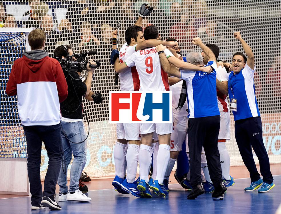 BERLIN - Indoor Hockey World Cup<br /> Bronze: Iran - Australia<br /> Iran won.<br /> foto: Iran celebrates their win.<br /> WORLDSPORTPICS COPYRIGHT FRANK UIJLENBROEK
