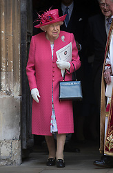 May 18, 2019 - Windsor, United Kingdom - Image licensed to i-Images Picture Agency. 18/05/2019. Windsor , United Kingdom. Queen Elizabeth II  leaving the Lady Gabriella Windsor  wedding at St.George's Chapel, Windsor, United Kingdom. (Credit Image: © Stephen Lock/i-Images via ZUMA Press)