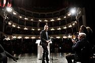 Napoli, Italia - Luigi Di Maio, candidato premier alle prossime elezioni per il Movimento Cinque Stelle durante un comizio a Napoli.<br /> Ph. Roberto Salomone