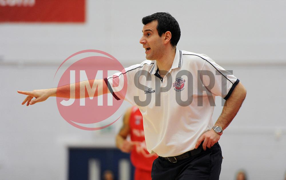 Bristol Flyers head coach, Andreas Kapoulas - Photo mandatory by-line: Dougie Allward/JMP - Mobile: 07966 386802 - 13/02/2015 - SPORT - Basketball - Bristol - SGS Wise Campus - Bristol Flyers v Surrey United - British Basketball League