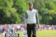 Chris Wood walks off the 17th hole during the BMW PGA Championship at Wentworth Club, Virginia Water, United Kingdom on 29 May 2016. Photo by Phil Duncan.