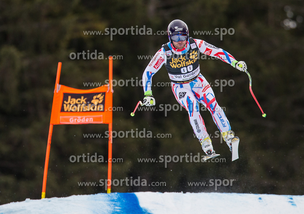 16.12.2015, Saslong, Groeden, ITA, FIS Ski Weltcup, Herren, Abfahrt, 1. Training, im Bild David Poisson (FRA) // David Poisson of France in action 1st downhill practice of the Groeden FIS Ski Alpine World Cup at the Saslong Course in Gardena, Italy on 2015/12/16. EXPA Pictures © 2015, PhotoCredit: EXPA/ Johann Groder