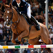 04.08.2018 The Longines Global Champions Tour Show jumping at The Royal Hospital Chelsea London UK Global Champions League of London for teams CS15 Competition in 2 phases and 2nd GCL Competition for Teams vJulien Epaillard FRA riding Usual Suspect d'Auge
