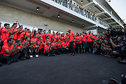 Nov 15-18, 2012: Lewis Hamilton and his team celebrate the victory. ..© Jamey Price/XPB.cc