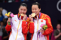 Tian Qing and Zhao Yunlei, China, Win Gold at Womens Doubles, Olympic Badminton London Wembley 2012