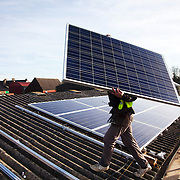 Solar panels installed on a  Balcombe farm