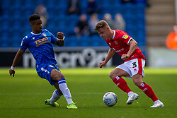 Cameron Pring of Walsall & Paris Cowan-Hall of Colchester United - Mandatory by-line: Phil Chaplin/JMP - 07/09/2019 - FOOTBALL - JobServe Community Stadium - Colchester, England - Colchester United v Walsall - Sky Bet League Two