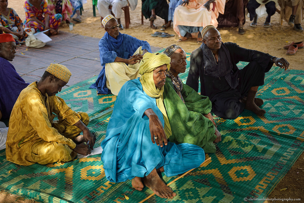 Ausbildungsworkshop (Bewässerung) für Kleinbauern und Erwachsene in DIAGALY, Senegal.