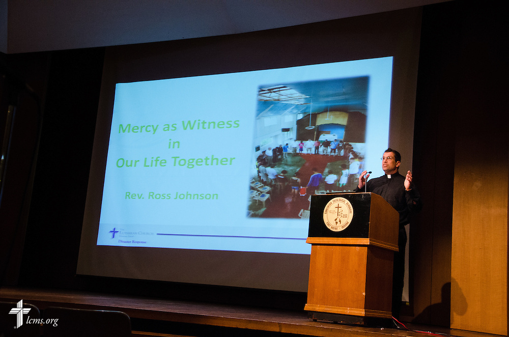 Rev. Ross Johnson, director of LCMS disaster response talks, Mercy as Witness in times of disaster. The IDRC provided both practical case studies as well as Theological teachings to encourage spiritual care and witness even in times of disaster.