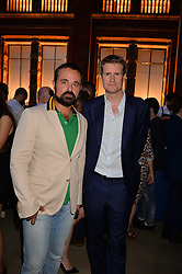 Evgeny Lebedev and Tristram Hunt at the V&A Summer Party 2017 held at the Victoria & Albert Museum, London England. 21 June 2017.<br /> Photo by Dominic O'Neill/SilverHub 0203 174 1069 sales@silverhubmedia.com