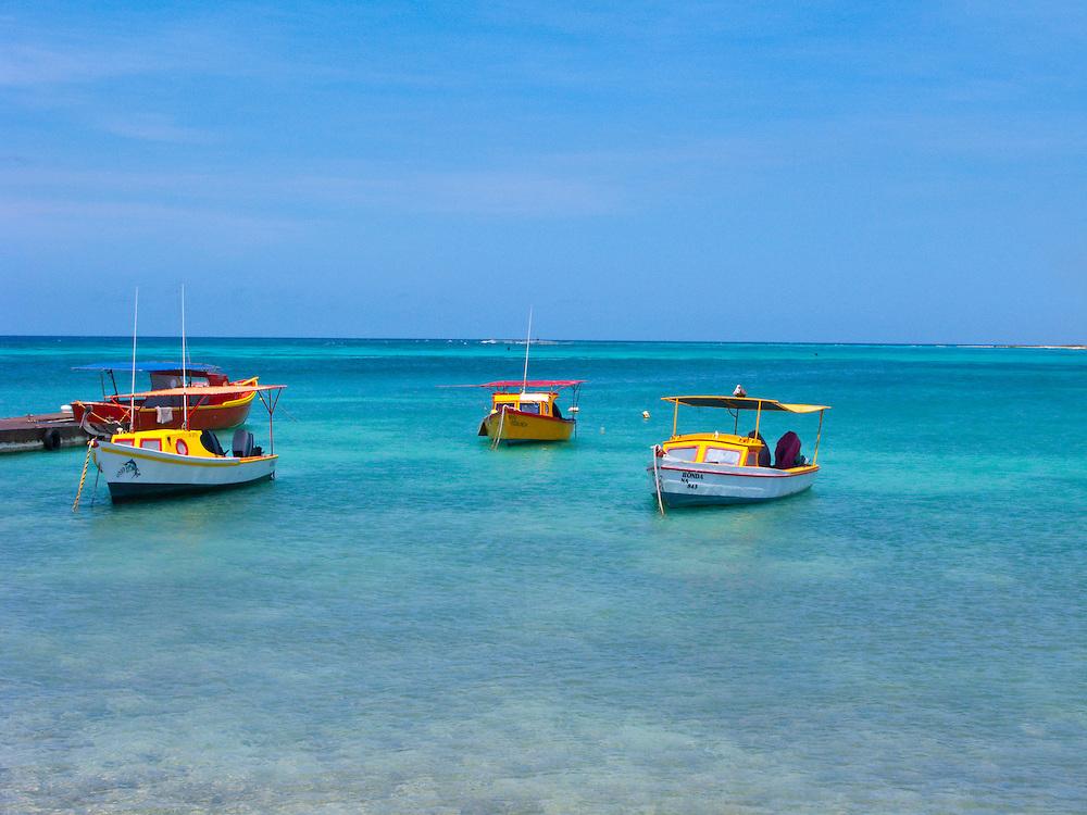 fishing boats in Aruba.