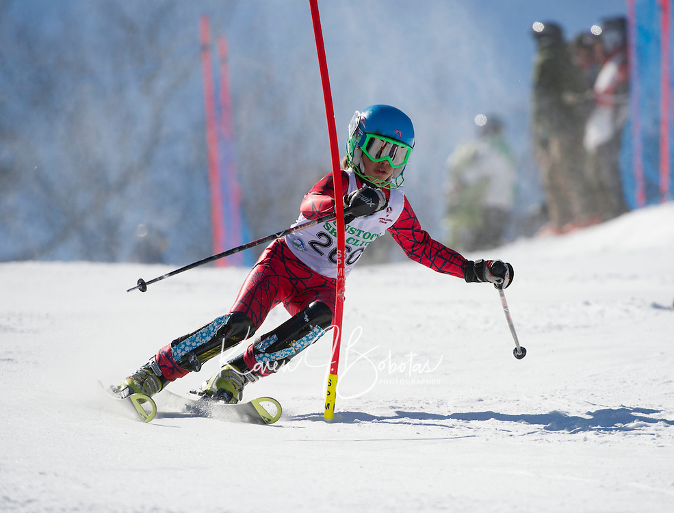 Piche Open Slalom at Gunstock.  U14 1st run.  ©2014 Karen Bobotas Photographer