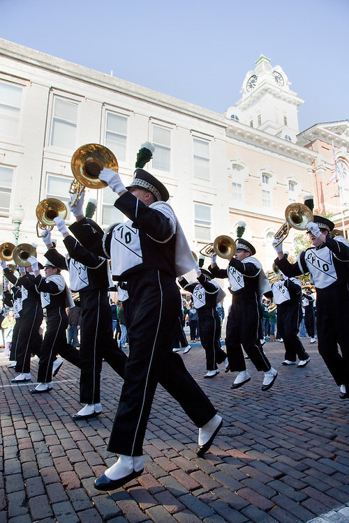 Marching 110 at the homecoming parade 10/15