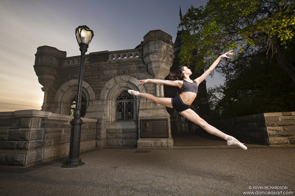 Dance As Art Belvedere Castle New York City Photo shoot with ballerina Amarra Hong. Clothing by Energetiks.