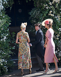 © Licensed to London News Pictures. 19/05/2018. London, UK. Singer JAMES BLUNT and Gabriela Peacock. Guests arrive at The wedding of Prince Harry, The Duke of Sussex to Meghan Markle, The Duchess of Sussex, at St George's Chapel in Windsor. Photo credit: Ben Cawthra/LNP