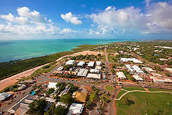 Aerial view of Roebuck Bay looking over Chinatown, Broome.