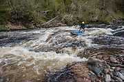 Paddling the River Findhorn in Scotland with Terri Bryce, Mitch Bechard, Jon Arman and Will Taylor.