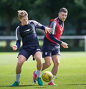 Dundee&rsquo;s Randy Wolters and Lewis Spence -  Dundee FC - Pre-season training at University Grounds, Riverside, Dundee, Photo: David Young<br /> <br />  - &copy; David Young - www.davidyoungphoto.co.uk - email: davidyoungphoto@gmail.com