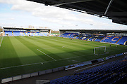 The Greenhous Meadow, home of Shrewsbury Town FC prior to the Sky Bet League 1 match between Shrewsbury Town and Port Vale at Greenhous Meadow, Shrewsbury, England on 25 March 2016. Photo by Mike Sheridan.