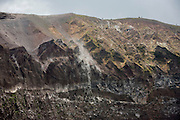 Crater edge of dormant Vesuvius volcano, near Naples, Italy.