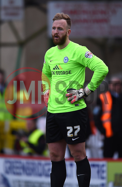 Peterborough United's Ben Alnwick - Photo mandatory by-line: Paul Knight/JMP - Mobile: 07966 386802 - 11/04/2015 - SPORT - Football - Swindon - The County Ground - Swindon Town v Peterborough United - Sky Bet League One
