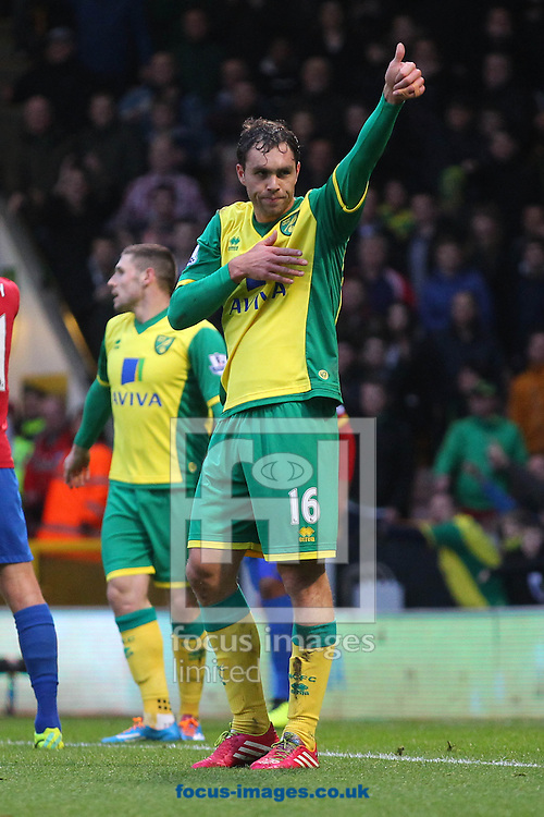 Picture by Paul Chesterton/Focus Images Ltd +44 7904 640267<br /> Johan Elmander of Norwich during the Barclays Premier League match at Carrow Road, Norwich.