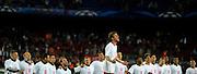 01.05.2013, Fussball Champions League Halbfinale Rückspiel: FC Barcelona - FC Bayern München, im Stadion Nou Camp in Barcelona, Spanien. Thomas Müller (Bayern München) macht nach dem Spiel den Vorsänger bei den Jubelgesängen. .