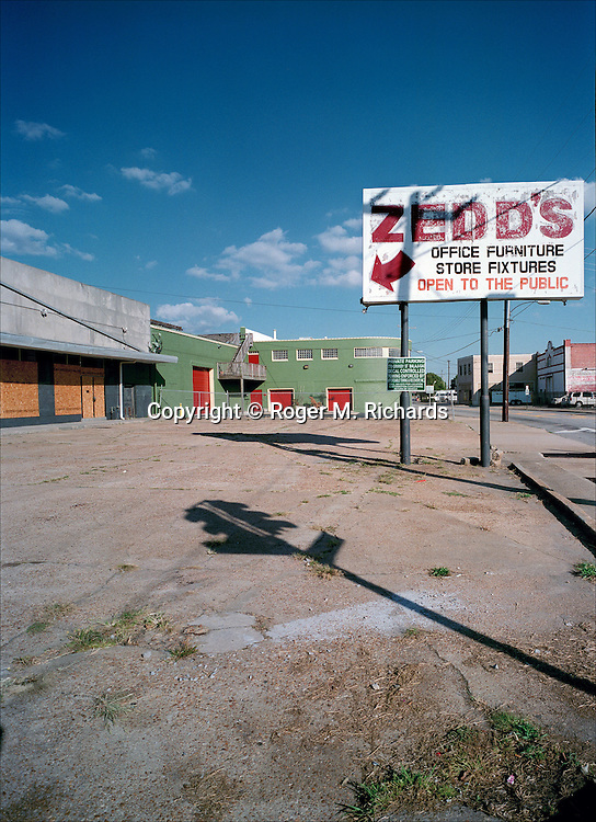 Shuttered furniture store, 2007, Norfolk, Virginia. Photograph by Roger M. Richards