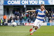 Queens Park Rangers Michael Petrasso (34) during the Sky Bet Championship match between Queens Park Rangers and Reading at the Loftus Road Stadium, London, England on 23 April 2016. Photo by Andy Walter.