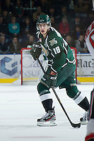 KELOWNA, CANADA - DECEMBER 30:  Stathis Soumelidis #18 of the Everett Silvertips skates on the ice at the Kelowna Rockets on December 30, 2012 at Prospera Place in Kelowna, British Columbia, Canada (Photo by Marissa Baecker/Shoot the Breeze) *** Local Caption ***