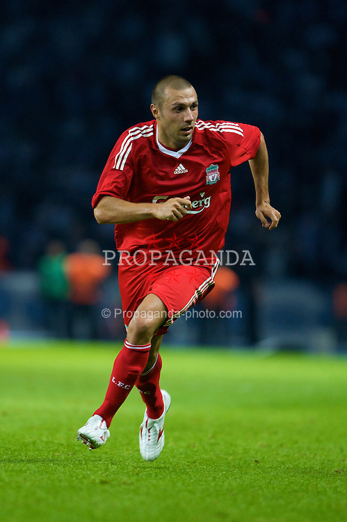 BERLIN, GERMANY - Tuesday, July 22, 2008: Liverpool's Andrea Dossena in action against Hertha BSC Berlin during a pre-season friendly match at the Olympiastadion. (Photo by David Rawcliffe/Propaganda)