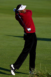 February 14, 2010; Pebble Beach, CA, USA;  Vijay Singh on the second hole during the final round of the AT&T Pebble Beach Pro-Am at Pebble Beach Golf Links.