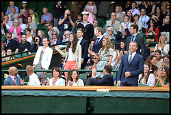 Great Britain's Olympians including Sir Chris Hoy in the royal box at The Wimbledon Tennis Championships<br /> The All England Lawn Tennis Club, Wimbledon, United Kingdom<br /> Saturday, 29th June 2013<br /> Picture by Andrew Parsons / i-Images