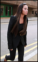 Singer Tulisa Contostavlos arriving at Chelmsford magistrates court singer she is charged with assault on Savvas Morgan during the V festival in Chelmsford Essex. Friday 23rd May 2014. Photo By Sean Dempsey / i-Images