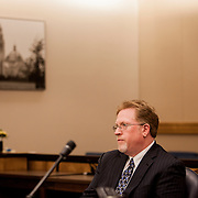Attorney Cory Briggs argues a case against the city of San Diego in Superior Court in San Diego, California, U.S. on Friday April 11, 2014.
