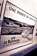 Metro station advertisement, Paris, France