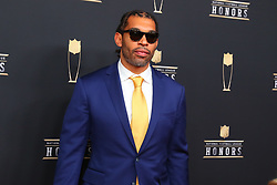February 2, 2019 - Atlanta, GA, U.S. - ATLANTA, GA - FEBRUARY 02:  Julius Peppers  poses for photos on the red carpet at the NFL Honors on February 2, 2019 at the Fox Theatre in Atlanta, GA. (Photo by Rich Graessle/Icon Sportswire) (Credit Image: © Rich Graessle/Icon SMI via ZUMA Press)