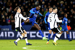 Wilfred Ndidi of Leicester City scores a goal to make it 2-1 to his side - Mandatory by-line: Robbie Stephenson/JMP - 08/02/2017 - FOOTBALL - King Power Stadium - Leicester, England - Leicester City v Derby County - Emirates FA Cup fourth round replay